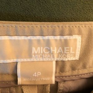 Michael Kors Size 4p Tan Dress Pants